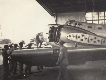 B-18 assembly at Hickam Field. ca. 1940