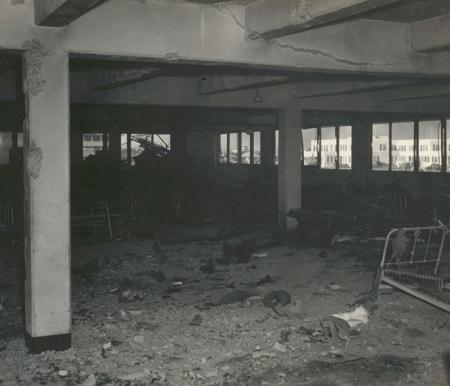 Destroyed barracks at Pearl Harbor