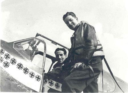 Gentile In P51-B with Friend