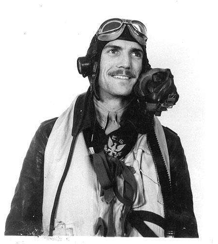 Pilot With Eagle Squadron Scarf